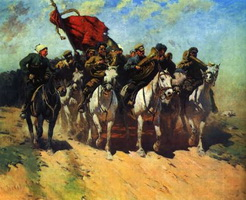 Трубачи Первой Конной армии (М.Б. Греков, 1934 г.)