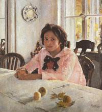 Девочка с персиками (В.А. Серов, 1887 г.)