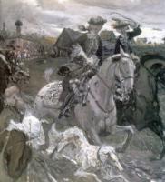 Выезд императора Петра II и цесаревны Елизаветы Петровны на охоту.1900