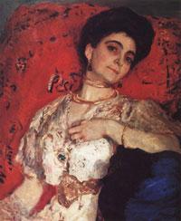 Портрет М.Н. Акимовой (В.А. Серов, 1908 г.)