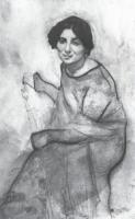 Портрет пианистки Ванды Ландовской.1907