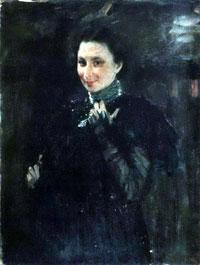Портрет М.К. Олив (В.А. Серов, 1895 г.)