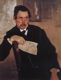 Портрет А.В. Касьянова (В.А. Серов, 1907 г.)