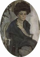 Портрет Е.П. Олив (В.А. Серов, 1909 г.)