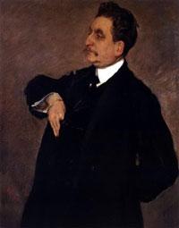 Портрет В.О. Гиршмана (В.А. Серов, 1911 г.)