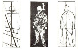 Схемы композиционного и тонального решения портрета М.А. Морозова