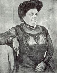 Портрет А.В. Цетлин (В.А. Серов, 1909 г.)