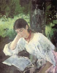 Портрет А.Я. Симонович (В.А. Серов, 1889 г.)