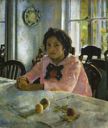 Девочка с персиками (Серов В.А.)