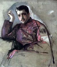 Портрет С.П. Дягилева (В.А. Серов, 1904 г.)