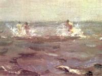 Купание лошади. 1905 Фрагмент