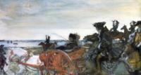 Выезд Екатерины II на соколиную охоту.1902