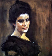 Портрет С.М. Лукомской (В.А. Серов, 1900 г.)