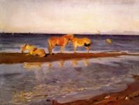 Лошади на взморье.1905