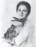 К.А. Обнинская с зайчиком.1904