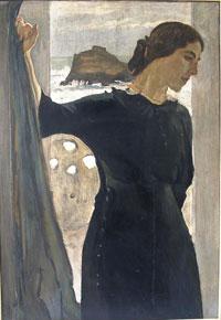Портрет М.С. Цетлин (В.А. Серов, 1910 г.)