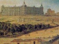 Фрагмент картины 17-го века с изображением дворца