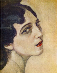 Портрет Иды Рубинштейн. Фрагмент (В.А. Серов)