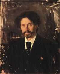 Портрет И.Е. Репина (В.А. Серов, 1892 г.)