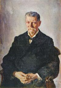 Портрет В.А. Бахрушина (В.А. Серов)
