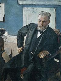 Портрет Э.Л. Нобеля (В.А. Серов, 1909 г.)
