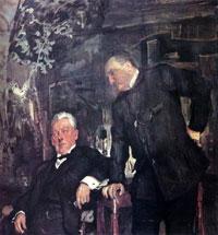 Портрет А.П.Ленского и А.И. Южина (В.А. Серов, 1908 г.)