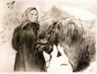 Баба с лошадью.1899
