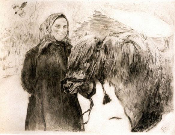 Баба с лошадью (Серов В.А.)
