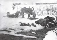Полоскание белья (На речке). 1901