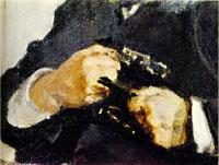 Портрет А.Н. Турчанинова. Фрагмент (В.А. Серов, 1906 г.)