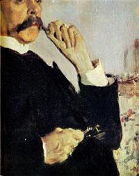 Портрет В.М. Голицына. Фрагмент (В.А. Серов)