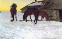 Стригуны на водопое. Домотканово. 1904